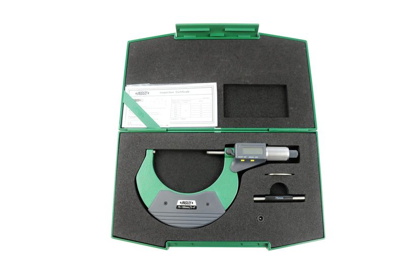 DIGITAL OUTSIDE MICROMETER - Insize 3109-100A 75-100mm / 3-4""