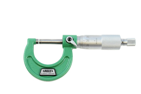 Insize 3210-25A<Br> 0 - 25mm Outside Micrometer (Micron Graduation)