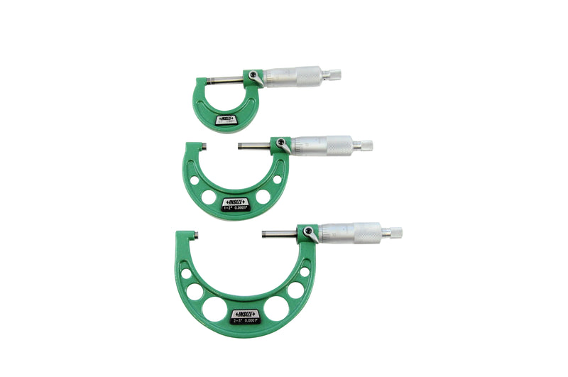OUTSIDE MICROMETER SET - Insize 3203-33A 0-3""