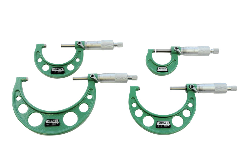 OUTSIDE MICROMETER SET - Insize 3203-44A 0-4""