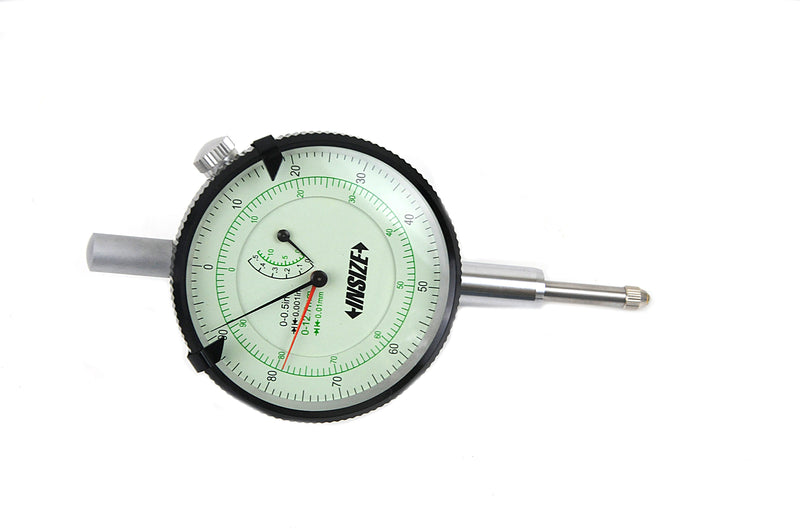 DUAL GRADUATION DIAL INDICATOR - INSIZE 2325-05 12.5mm / 0.5""