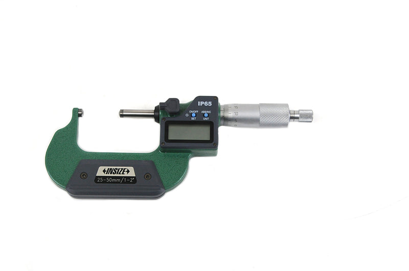 DIGITAL SPHERICAL ANVIL TUBE MICROMETER - INSIZE 3560-50SA 25-50mm / 1-2""