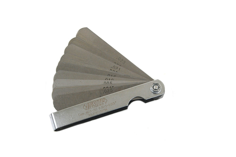 FEELER GAUGE SET - INSIZE 4613-262 0.0015-0.025""