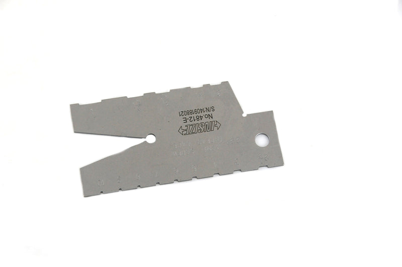 THREAD ANGLE GAUGE - INSIZE 4812-E 1-10TPI