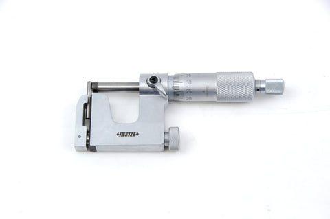 INSIZE 3262-25A <br>0 - 25MM INTERCHANGEABLE ANVIL MICROMETER