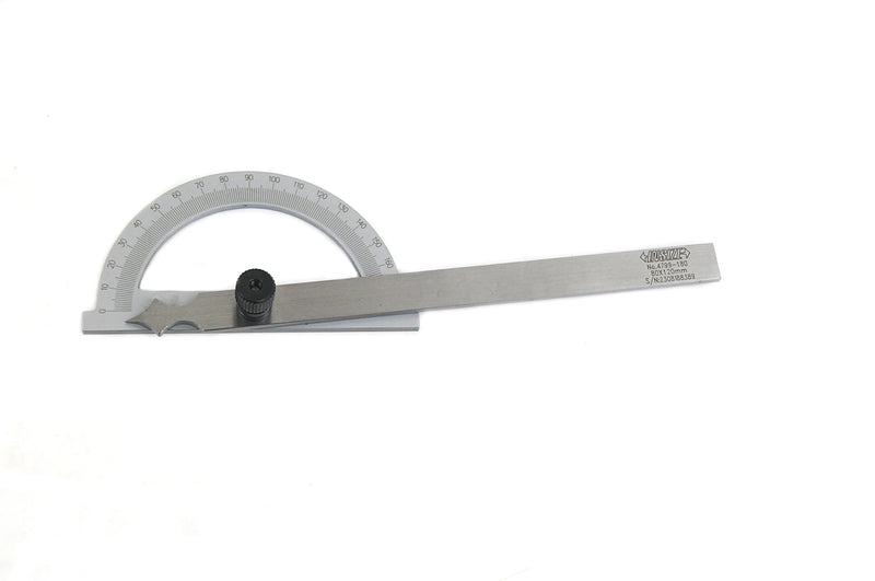 180 DEGREE PROTRACTOR - INSIZE 4799-180 80X120mm