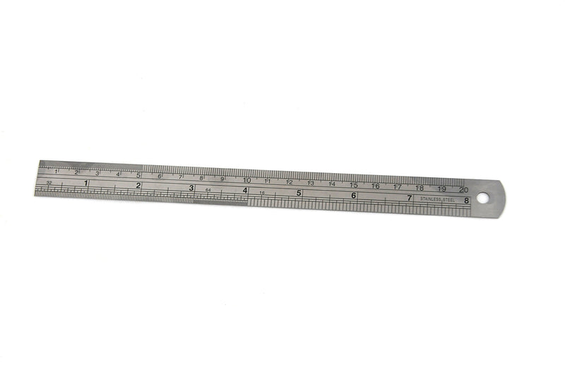 STAINLESS STEEL RULE - INSIZE 7110-200 200mm / 8""