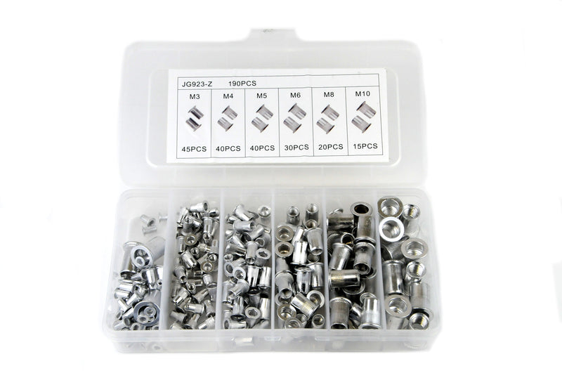 130 Pcs Aluminium Rivernut Kit
