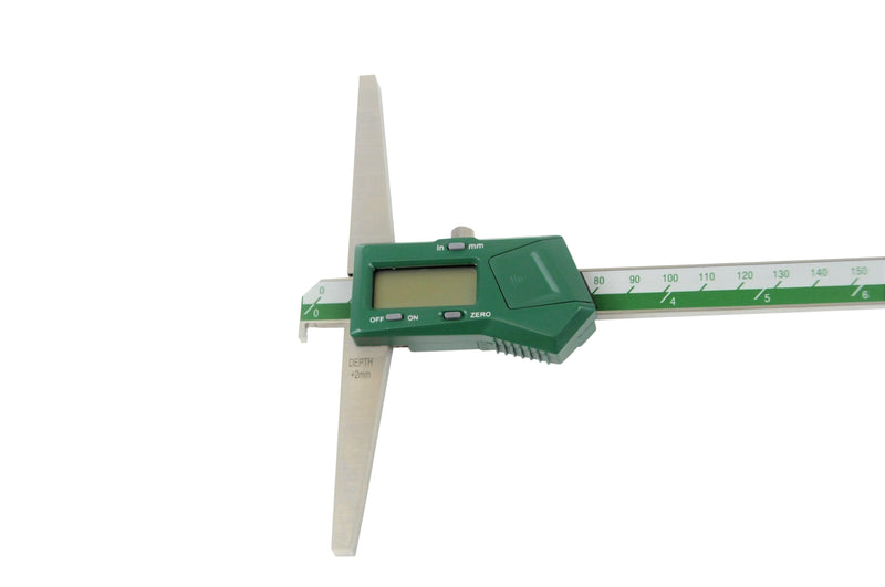 DIGITAL HOOK DEPTH GAUGE - INSIZE 1142-300A 0-300mm / 0-12""