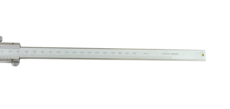 insize 1248-200 vernier hook depth caliper 200mm end