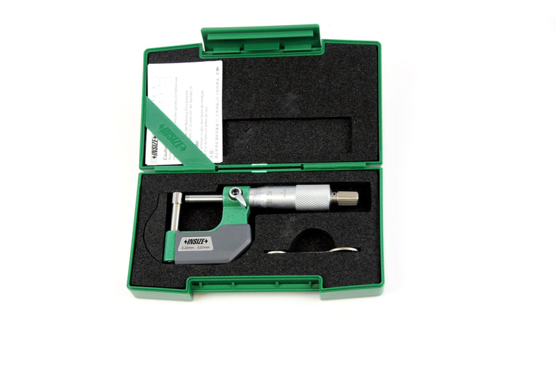 CYLINDRICAL ANVIL TUBE MICROMETER - INSIZE 3261-25CA 0-25mm