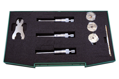 INSIZE 3227-123<br> 6 - 12MM THREE POINT INTERNAL MICROMETER SET WITH SETTING RING