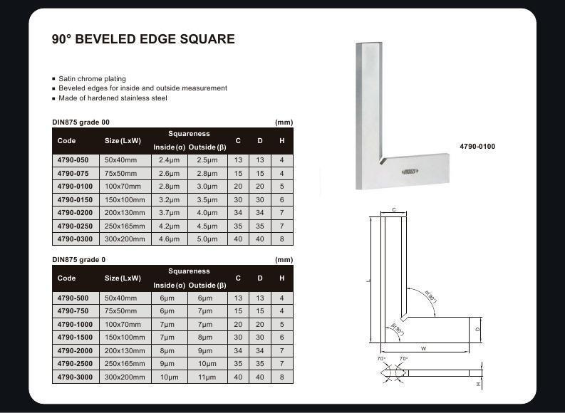 BEVELLED EDGE SQUARE - INSIZE 4790-0100 100X70mm