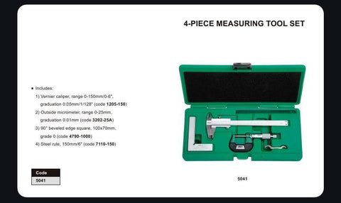 INSIZE 5041<br> 4PC MEASURING TOOL SET