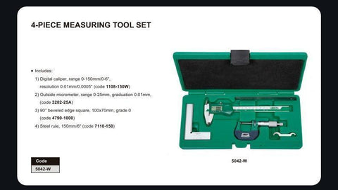 INSIZE 5042<br> 4 PC MEASURING TOOL SET