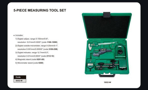 INSIZE 5052<br> 5PC MEASURING TOOL SET