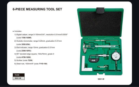 INSIZE 5061<br> 6 PC MEASURING TOOL SET