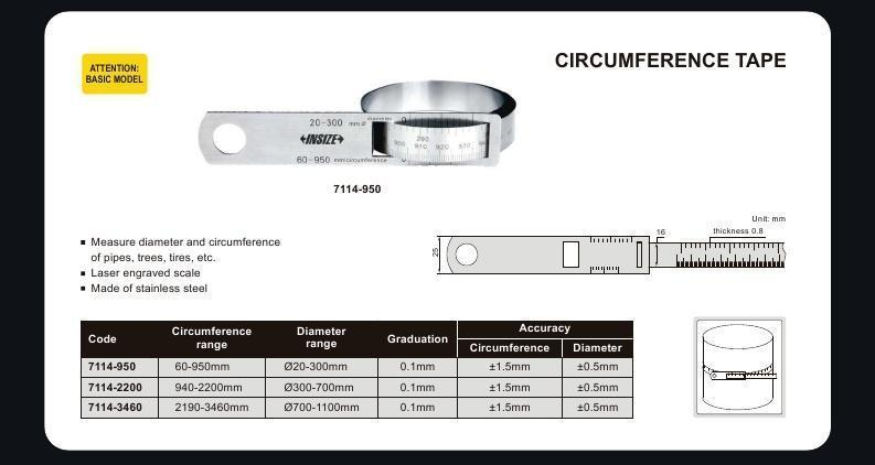 CIRCUMFERENCE TAPE - INSIZE 7114-950 60-950mm
