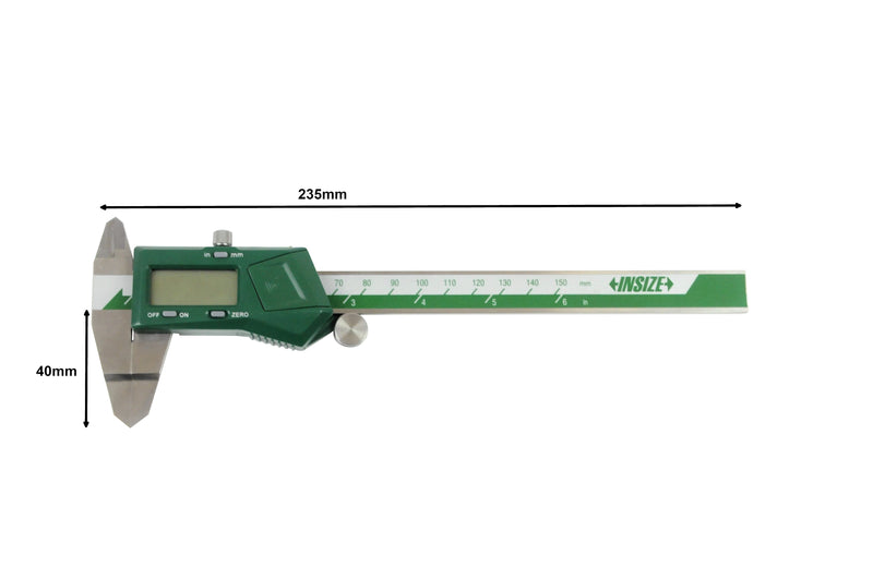 DIGITAL BLADE CALIPER - INSIZE 1188-150A 0-150mm / 0-6""