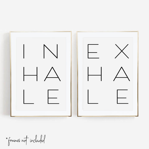 Inhale / Exhale Print Set