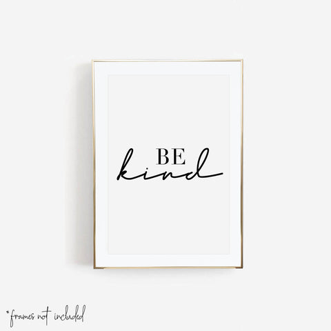 Be Kind Print - Typologie Paper Co