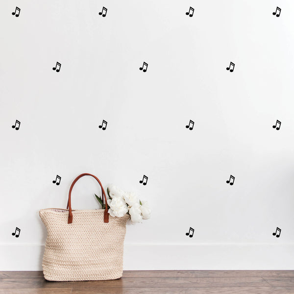 Double Music Note Wall Decals