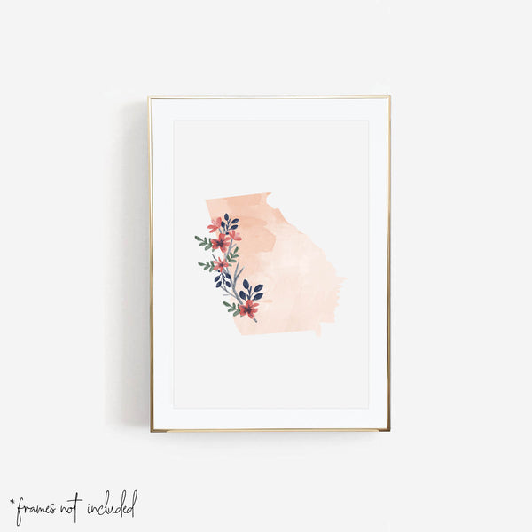 Watercolor Floral Georgia Print