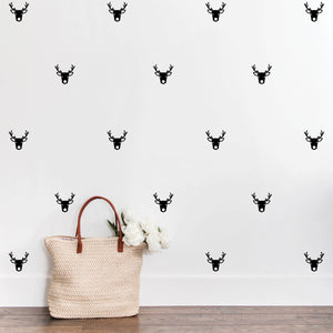 Reindeer Face Wall Decals