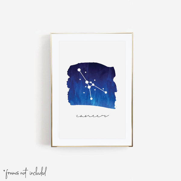 Cancer Zodiac Watercolor Print