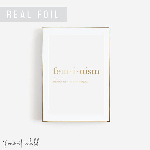 Feminism Definition Foiled Art Print