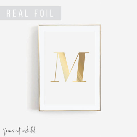 Large Personalized Initial Foiled Art Print