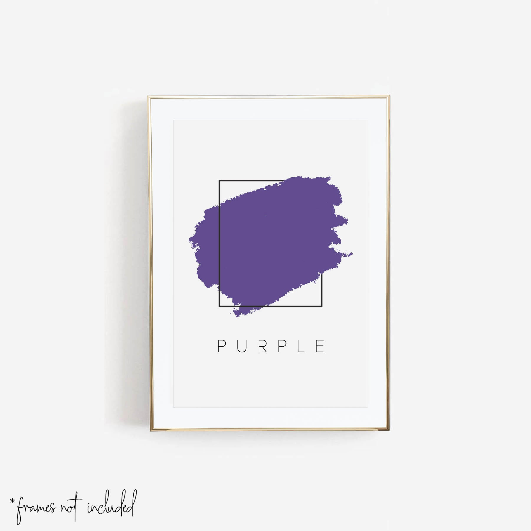 Purple Color Box Print