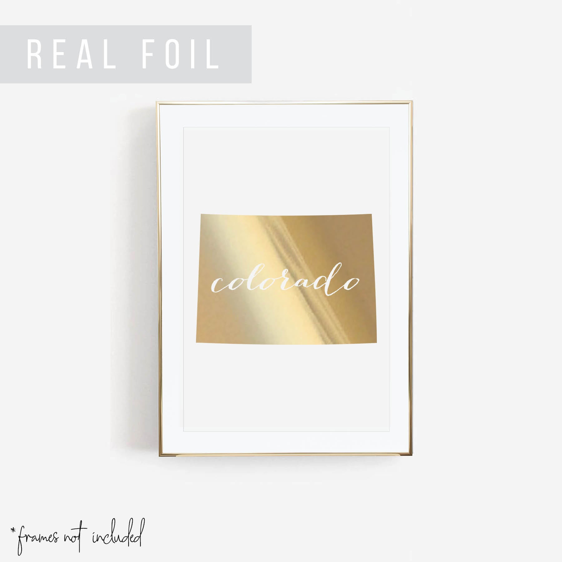 Colorado State Foiled Art Print