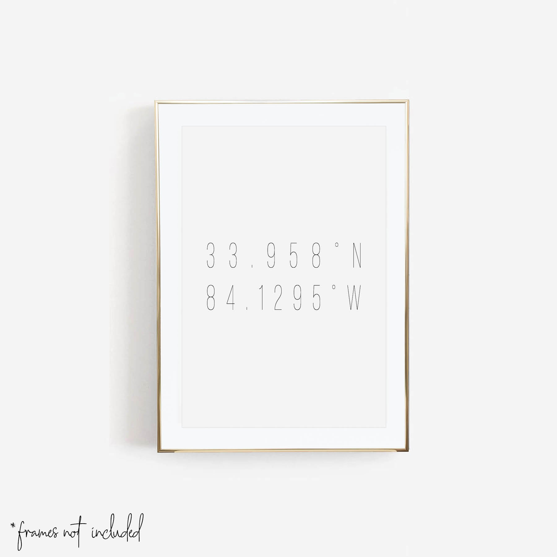 Personalized Latitude and Longitude Print