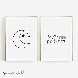 To the Moon Print Set