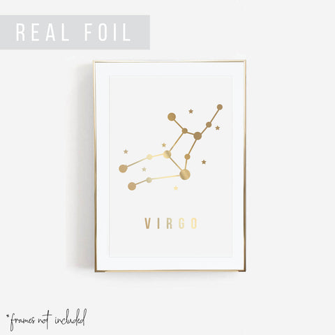 Virgo Foiled Art Print