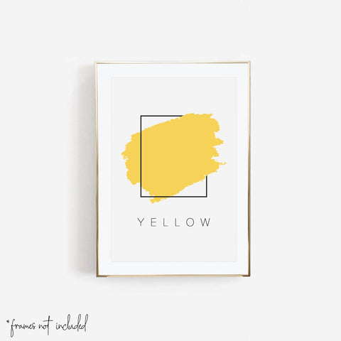 Yellow Color Box Print