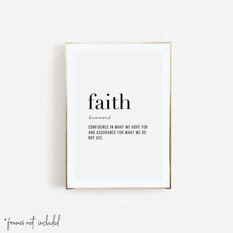 Faith Definition Print