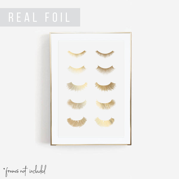 Lashes Foiled Art Print