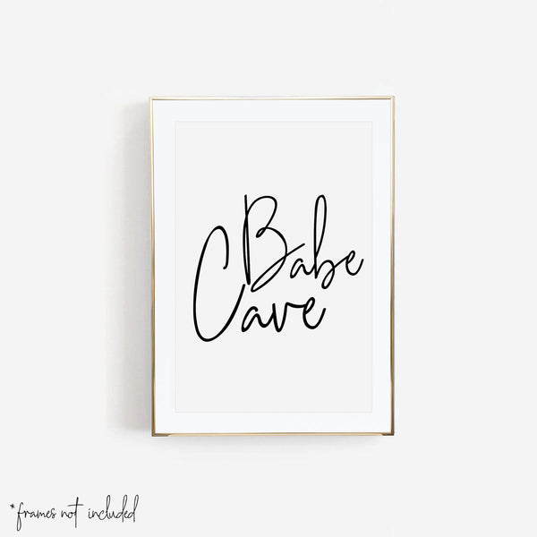 Babe Cave Script Print - Typologie Paper Co