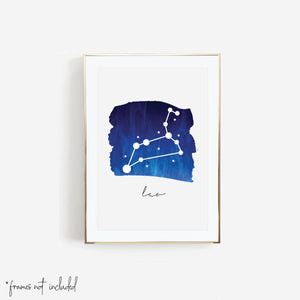 Leo Zodiac Watercolor Print