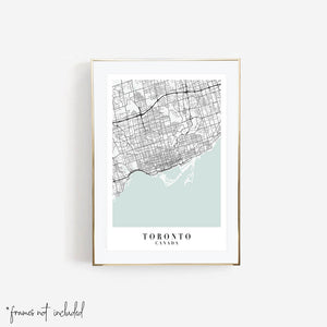 Toronto Canada Blue Water Street Map Print