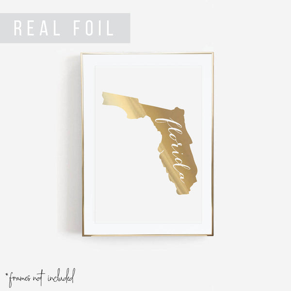 Florida State Foiled Art Print