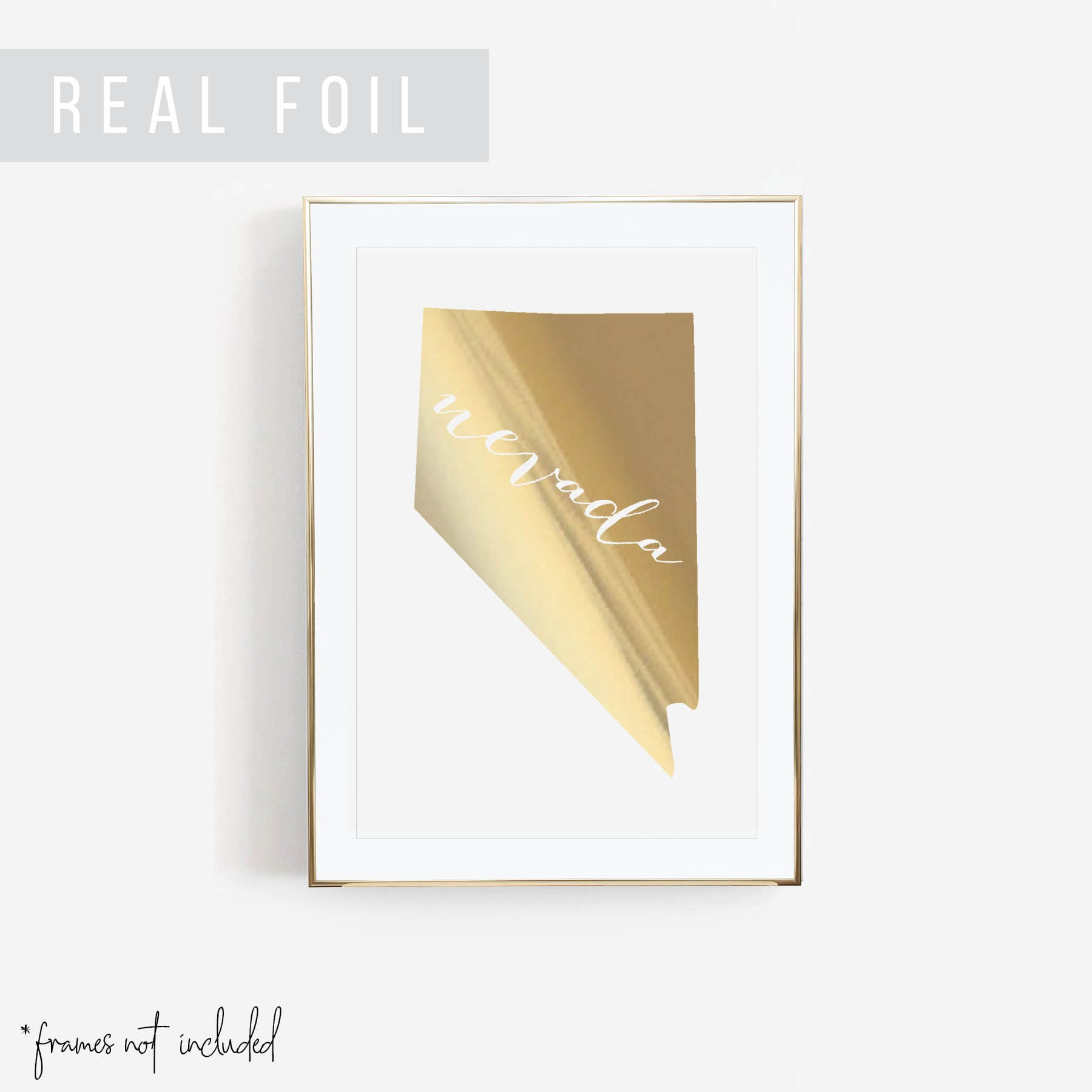 Nevada State Foiled Art Print