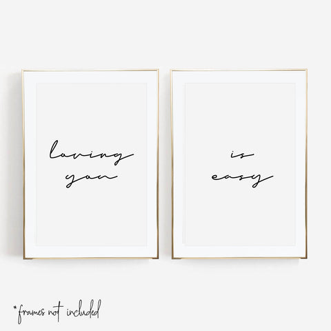 Loving You / Is Easy Print Set