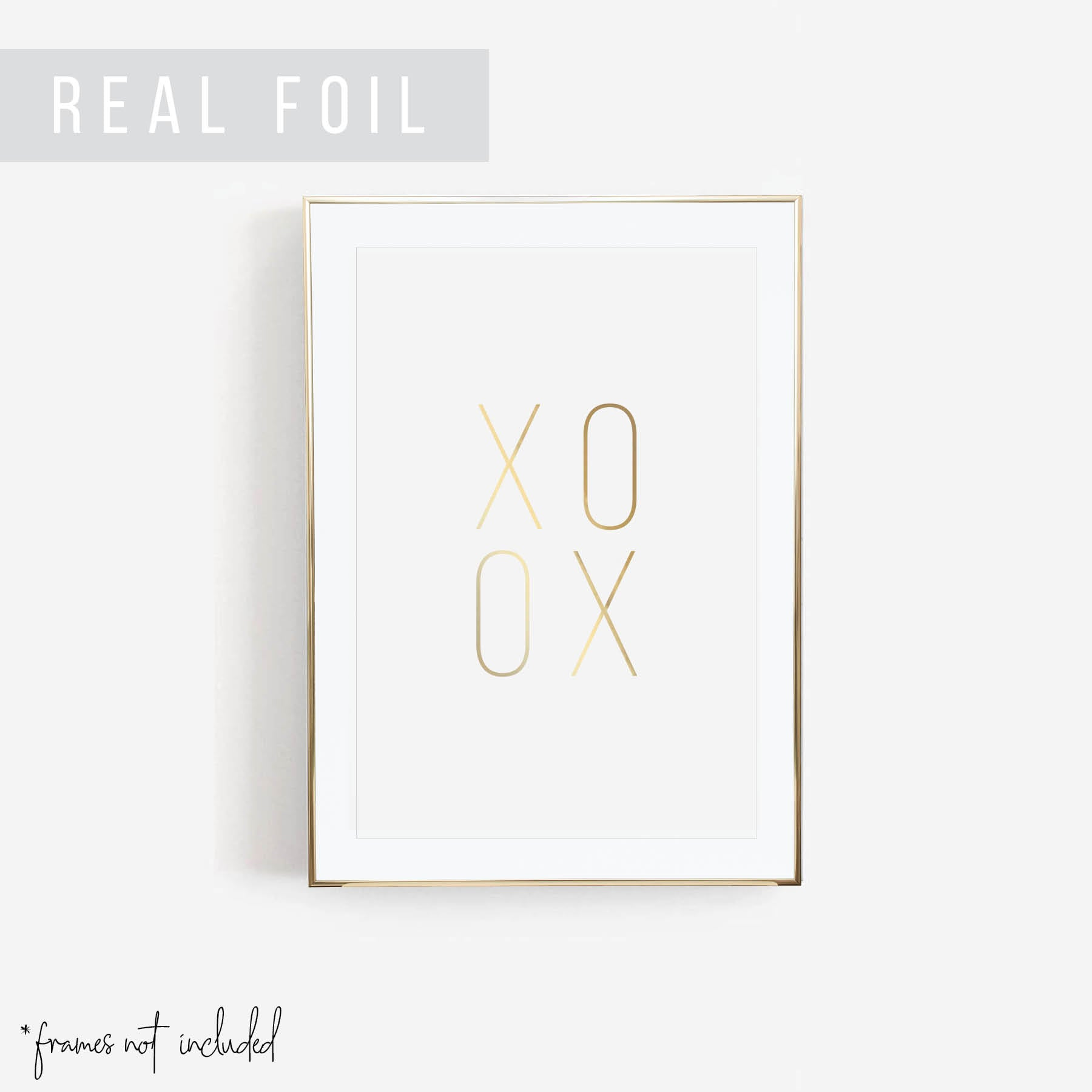 XOXO Foiled Art Print