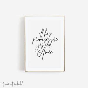 All His Promises Are Yes and Amen Print - Typologie Paper Co