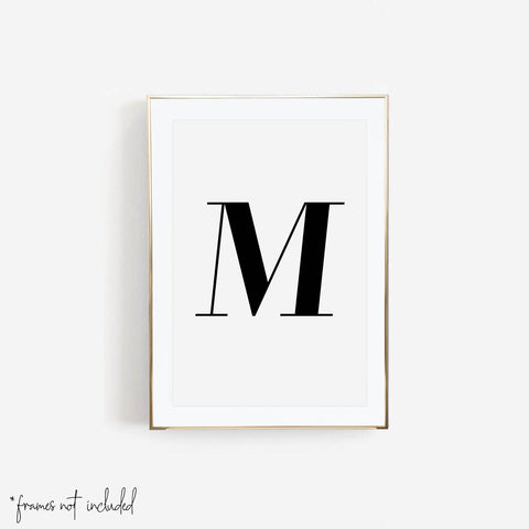 Large Personalized Initial Print