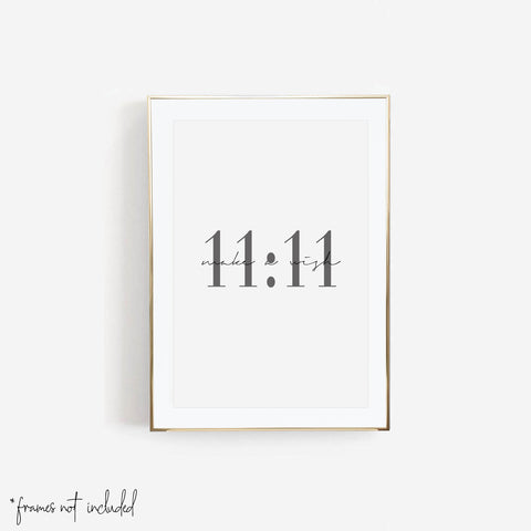 11:11 Make A Wish Print - Typologie Paper Co