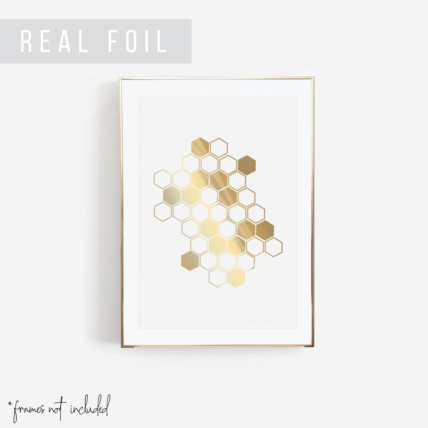 Honeycomb Foiled Art Print